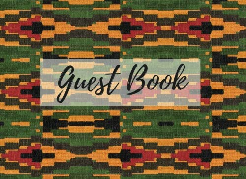 Search : Guest Book: (African Fabric (13), Event Guest Book, For Events, Anniversary, Retirement Party, Wedding, Birthday,101 pages - [Professional Binding]