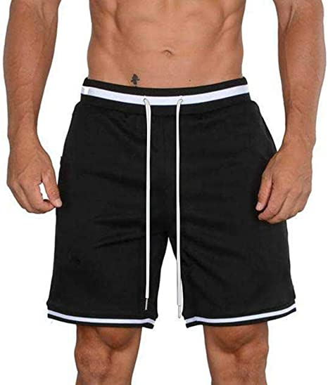 DIOMOR Classic 5 Inseam Drawstring Mesh Shorts for Men Outdoor Fitness Trunks Quick Dry Comfy Athletic Pockets Pants