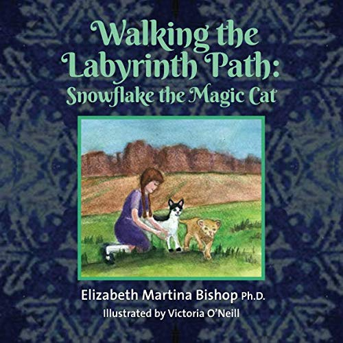(Walking the Labyrinth Path: Snowflake the Magic Cat)
