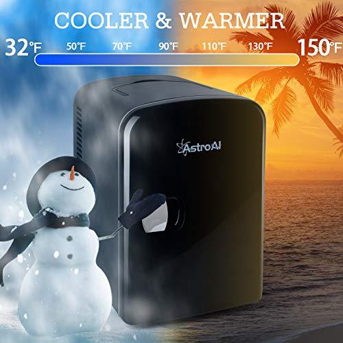 Astroai 4l Mini Nevera Pequena Portatil 12 V220 V Para Coche Y Casa Tanto En Frio Como En Calor 0 66c Negro