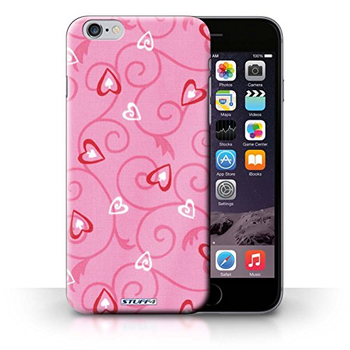 iCHOOSE Print Motif Coque de protection Case / Plastique manchon de telephone Coque pour iPhone 6+/Plus 5.5 / Collection Coeur Vigne Motif / Rose/Rouge