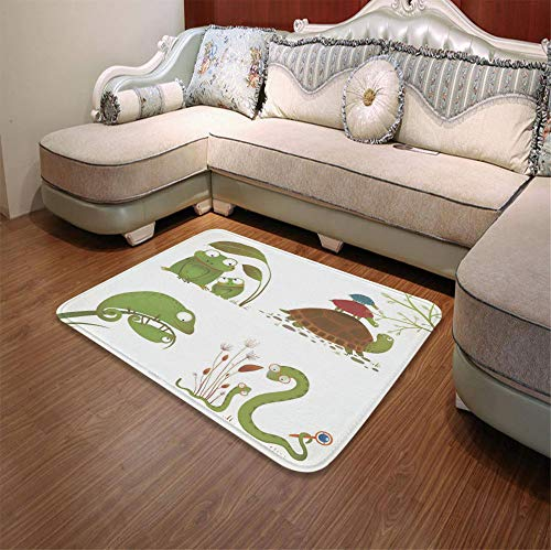 (YOLIYANA Polyester Carpet,Reptiles,for Meeting Room Dining Room,55.12