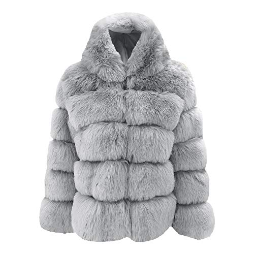 Rambling New Women Mink Coats Winter Hooded New Faux Fur Jacket Warm Thick Outerwear ()