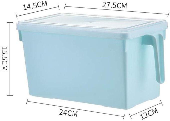ASDAD Cajón De Cocina Tipo Frigorífico Caja De Almacenamiento Contenedor De Almacenamiento De Alimentos Caja De Acabado Contenedores De Cereales De Plástico: Amazon.es: Hogar