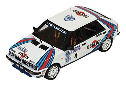 1/43 ランチア デルタ HF 4WD 1987年RACラリー 優勝 J.Kankkunen-J.Piironen #4(ホワイト×ブルー×レッド) RAC120