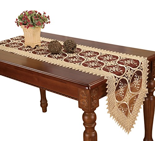 Simhomsen Burgundy Lace Table Runners And Dresser Scarves...