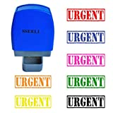 SSEELL URGENT Self Inking Rubber Stamp Self-Inking RE-inkable Pre-inked Office Stationary Flash Stamps - Purple Ink Color