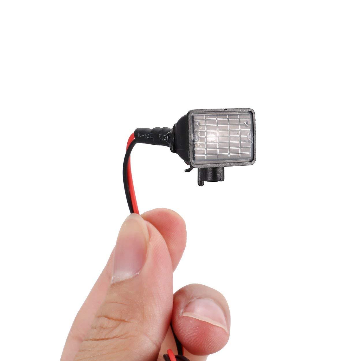 Lorenlli 4 unids RC Coche Multi Funci/ón Cuadrada L/ámpara de Luz LED con Pantalla para RC Coche 1//10 SCX10 D90 TRX4 Modelo Crawler Car