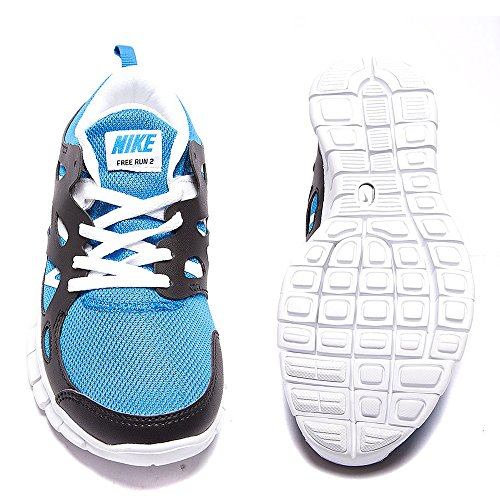 Nike Free Run 2 (GS), Jungen Laufschuhe photo blue-white-black (443742-407)