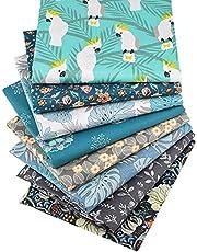 """8 Pcs Floral Fat Quarters Fabric Bundles,Precut Sewing Quilting Fabric,18"""" x 22"""""""