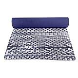 Tringle Yoga Mat 4 mm de espesor con la economía de la correa Esterillas Anti Slip