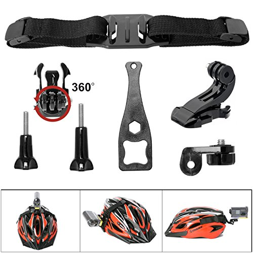 Victool Action Camera 360 Degree 7in1 Vented Helmet Strap Mount Kit for GoPro Helmet Mount for SONY FDR X-3000V X1000VR HDR AS 300 AS-10 AS-15 AS-20 AS-30 AS-50 AS-100 AS-200 AZ-1 + GoPro Action Cam by Victool