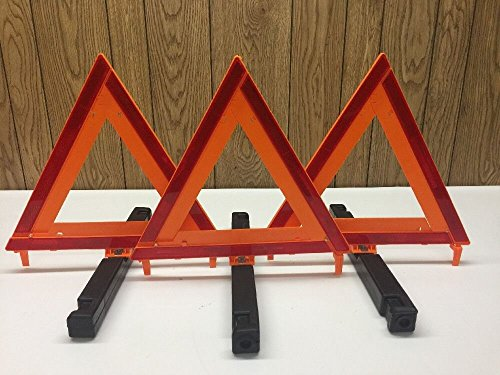 James King & Co. Triangle Highway Warning Reflector Set 250-A 1005 Safety Kit