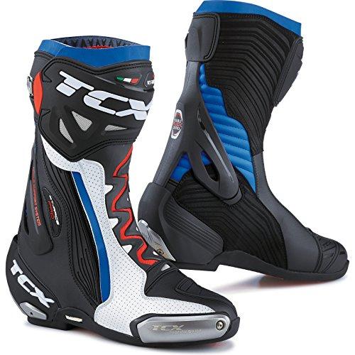 TCX rt-race Pro Air botas de motocicleta White/Black/Blue