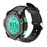 Waterproof Bluetooth Outdoor Sport Watch Bracelet Multi Function Smart Watch Fitness Tracker Pedometer for Iphone and Andriod Phones (Green+Black)