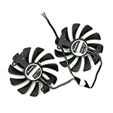 2pcs/lot GF10012H12SPA 0.5A video cards cooler GTX1080 GPU fan For zotac GeForce GTX 1080 AMP Graphics Card GPU cooling
