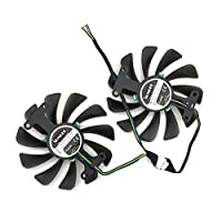 2pcs/lot GF10012H12SPA 0.5A video cards cooler GTX1080 GPU fan For zotac GeForce GTX 1080 AMP Graphics Card GPU cooling