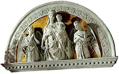 Design Toscano Blessed Union Renaissance Arch Sculptural Lunetta, Ivory Gold