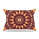 KESS InHouse Iris Lehnhardt ''Colors of Africa'' Brown Orange Pillow Sham, 40'' x 20''