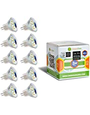 GreenSun LED Lighting 10X MR11 GU4 3W 12 * 2835SMD gloeilamp LED spot gloeilamp spot lamp AC/DC 12V, 180LM lampen spotlight warm wit 3000-3500k