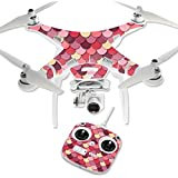 MightySkins Protective Vinyl Skin Decal for DJI Phantom 3 Standard Quadcopter Drone wrap cover sticker skins Pink Scales