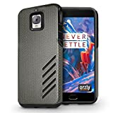 OnePlus 3 / OnePlus 3T Case - Orzly Grip-Pro Case for OnePlus 3 (Original 2016 Model & OnePlus 3T Version) - Durable & Light-Weight Twin Layer Case for Added Grip & Protection - Graphite Grey