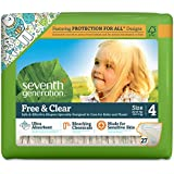 Seventh Generation Free & Clear Diapers, Size 4, 27 ct