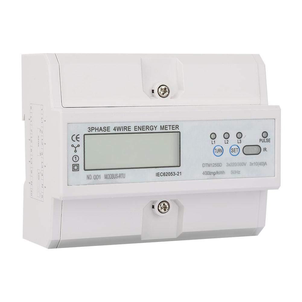 380V 10-40A KWh 3 avec l/écran LCD Compteur d/énergie /électrique num/érique de phase de consommation d/énergie de 220