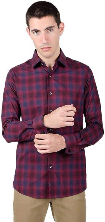 Do Rego y Noboa Camisa Hombre Cuadros Granate XL: Amazon.es: Ropa y accesorios
