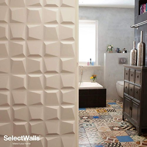 Mdf Decorative Panels (3D Wall Wood Panels from MDF Wood (10/Box) 27 sqft- FAYE Wall Paneling Design.)