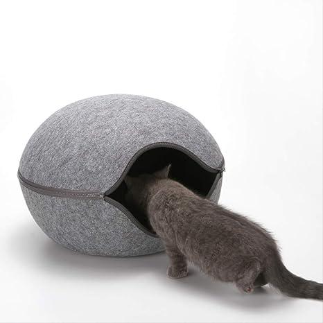 QZHYGE Forma de Huevo Perro Gato Cama Gato Gato Saco de Dormir ...