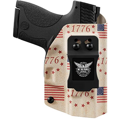 We The People - IWB Holster Compatible with Taser Pulse Gun - Inside Waistband Concealed Carry Kydex Holster (Left Hand, Betsy Ross Flag)