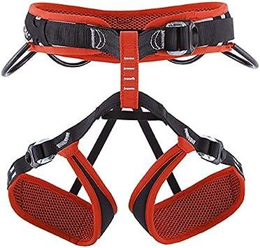 Triple Sport Stubai Sports - Arnés para Escalada (Talla S-XL) Color Negro y Rojo