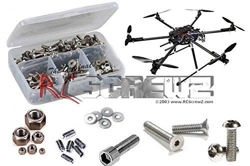 RCScrewZ Aerial Freaks Spartacus H680 FPV/Multicoptor Stainless Steel Screw Kit (Freak Steel Stainless Kit)