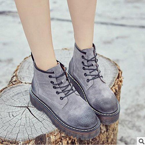 Amazon.com: HSXZ Womens Shoes Nappa Leather Winter Fall Comfort Boots Chunky Heel Closed Toe Booties/Ankle Boots for Casual Army Green Brown Gray Black: ...