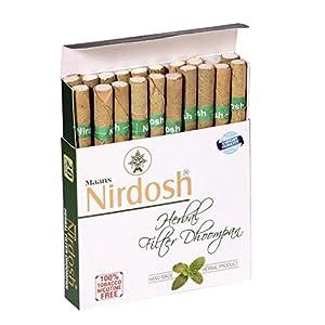 Nirdosh Herbal - Made with 8 Ayurvedic Herbs (Nicotine Free) (Pack of 120 Cigarettes) 24