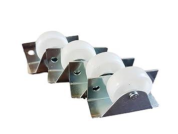 Rueda giratoria de plástico de 35 mm con doble rueda metálica con placa para muebles y equipo pequeño mini ruedas: Amazon.es: Bricolaje y herramientas