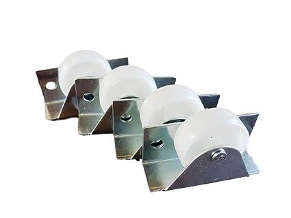 Rueda giratoria de plástico de 35 mm con doble rueda metálica con placa para muebles y