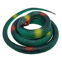 Soft Plastic Snake Toy (Pack of 2) Rubber Snake /Scary Snake/Fake Snake/Silicone Snake Toilet / Rain Forest Snakes Halloween Garden Party Favors Decoration Gag Toy & Practical Jokes