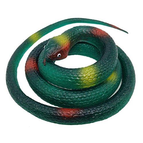 VANTIYAUS Soft Plastic Snake Toy (Pack of 2) Rubber Snake/Scary Snake/Fake Snake/Silicone Snake Toilet/Rain Forest Snakes Halloween Garden Party Favors Decoration Gag Toy & Practical Jokes -