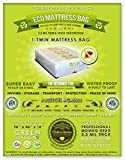 1 Twin Size Mattress Bag. Fits All Pillow Tops and Box Springs. Ideal for Moving, Storage and Protecting Your Mattress. Heavy Duty Professional Grade. Easy to Slip on and Seal. Sleep with Peace of Mind and Don't Let the Bed Bugs Bite. Protect Your Investment with Our American Made, World Famous, 5 Star Rated, Eco Friendly Mattress Protection.