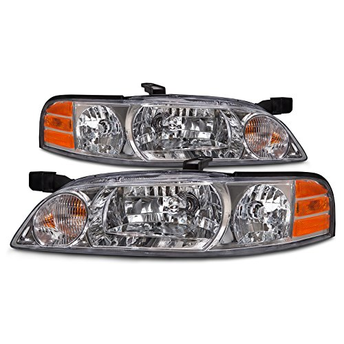 2001 Nissan Altima Headlight - Headlights Depot Nissan Altima Halogen-Type Headlights Set Headlamps Pair New