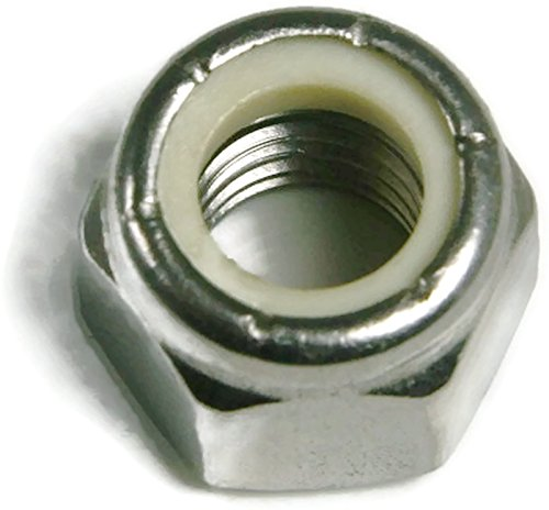 316 Stainless Steel Nylon Insert Lock Nuts Nylock UNC Coarse Sizes #4-40 to 1/2''-13 QTY 100 (1/4''-20) by RAW Products Corp