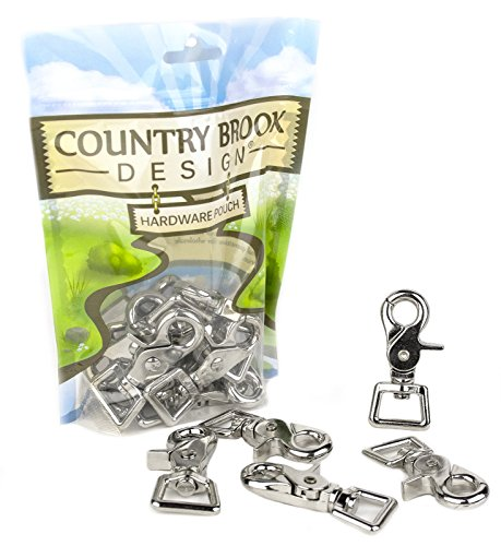 (10 - Country Brook Design | 3/4 Inch Trigger Swivel Snap Hooks)