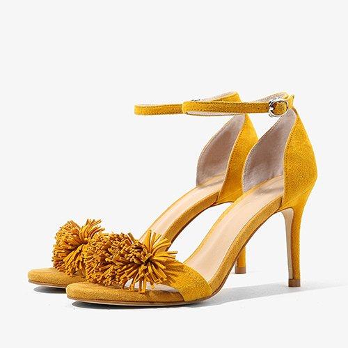 confortables verano altos tacones yellow 37 Silver sandalias Moda Mujer wRqx11