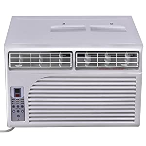 Costway Cold Air Conditioner Window-Mounted Compact w/ Remote Control 115V, White (10000 BTU)