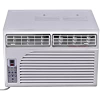 Costway Cold Air Conditioner Window-Mounted Compact w/ Remote Control 115V, White (6000 BTU)