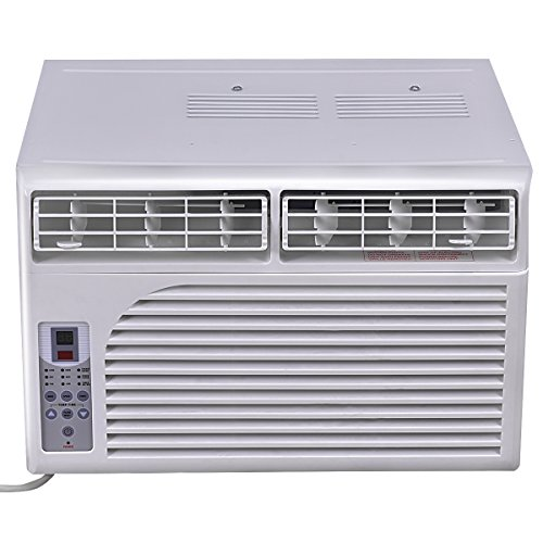 Costway Cold Air Conditioner Window-Mounted Compact w/ Remote Control 115V, White (6000 BTU) by COSTWAY