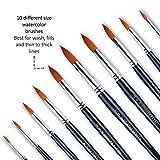 Professional Round Paint Brush, 10 Sizes, Soft
