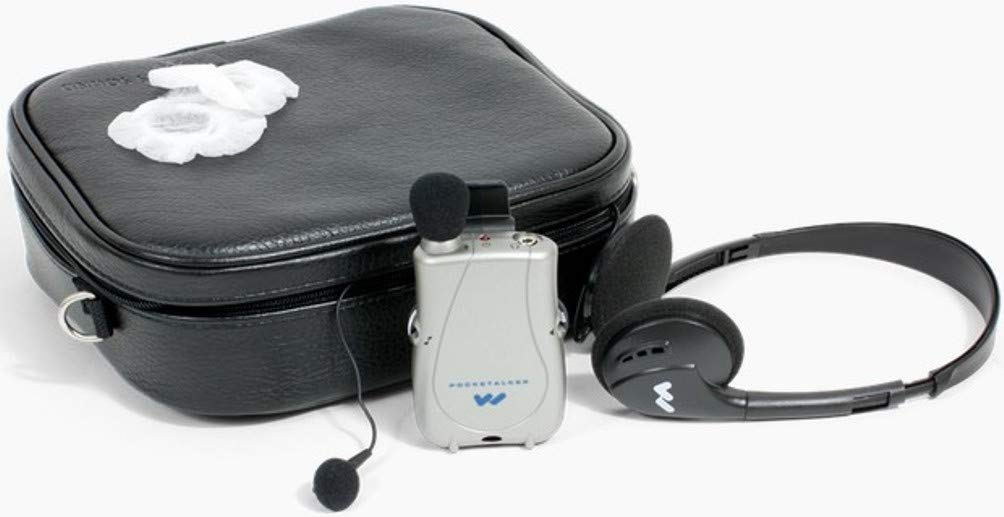 Williams AV Basic COMM KIT Basic Communication Kit, Includes: PKT D1 Pocketalker Amplifier, Ear 013 Earbud, HED 021 Headphone, (1) CCS 043 Carry Case and (100) Ear 045-100 Sanitary Headphone Covers